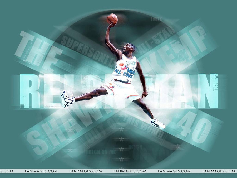 Shawn Kemp All-Star 1992 Wallpaper