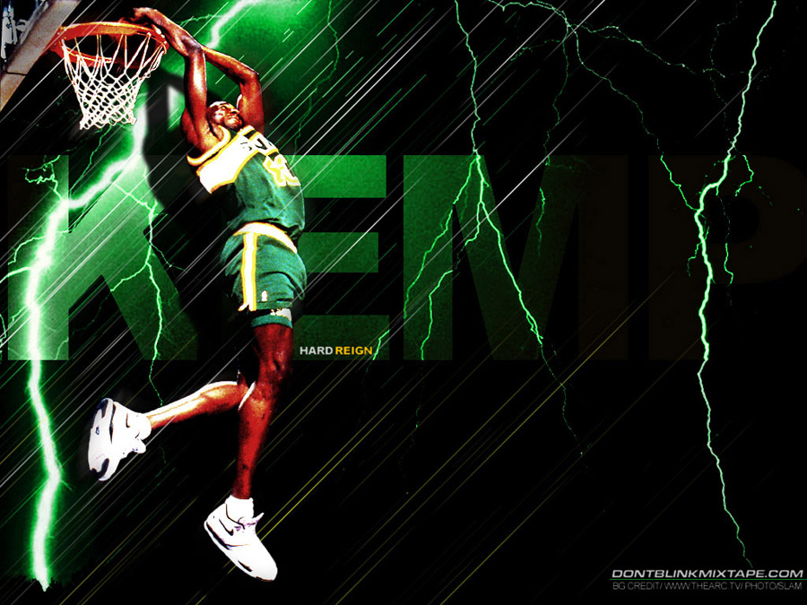 Shawn Kemp Reverse Dunk Wallpaper