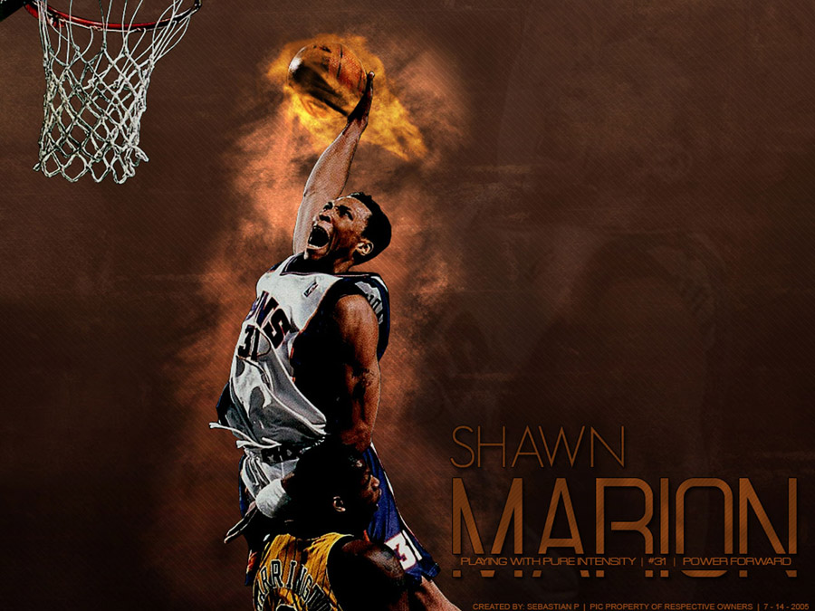 Shawn Marion Flame Dunk Wallpaper