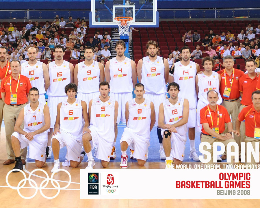 Spain Basketball Olympic Team 2008 Wallpaper
