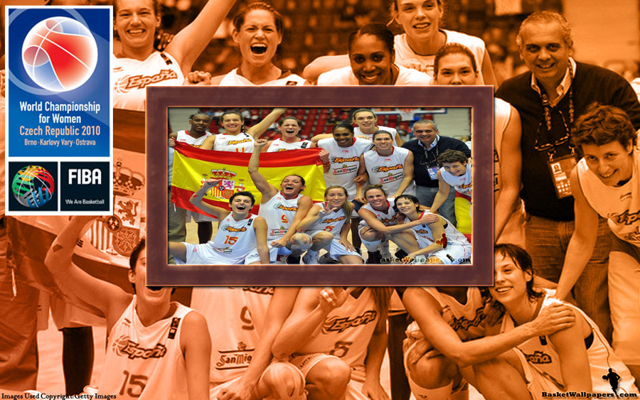 Spain FIBA Women World Championship 2010 Bronze Medal Wallpaper