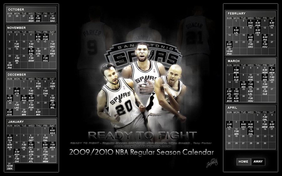 Spurs 2010 Schedule Widescreen Wallpaper