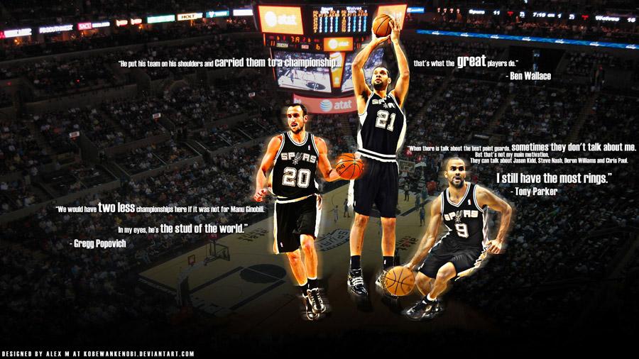 Spurs Big 3 Quotes Widescreen Wallpaper