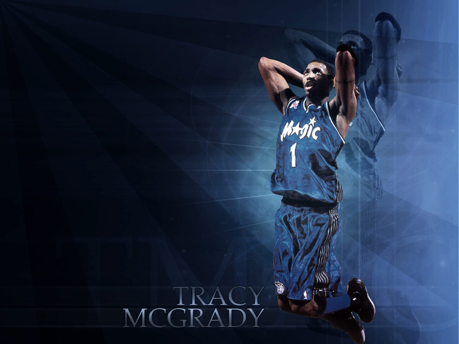 T-Mac Orlando Magic Dunk Wallpaper