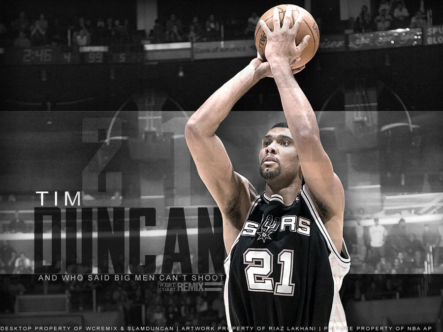 Tim Duncan Shooting Wallpaper