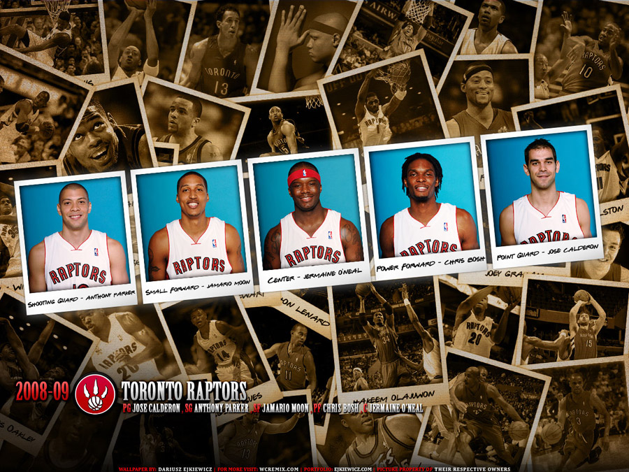 Toronto Raptors Polaroid Wallpaper 2009