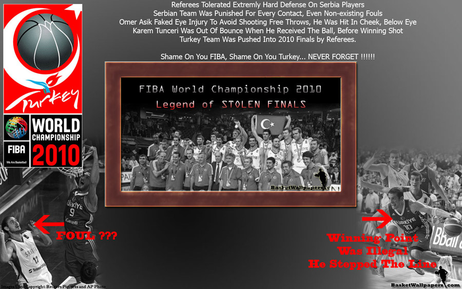 Turkey FIBA World Championship 2010 Stolen Final Wallpaper