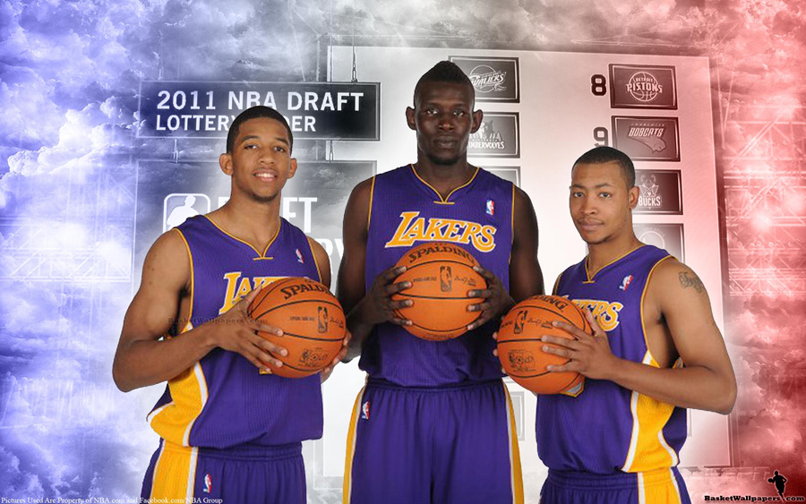 2011 NBA Draft LA Lakers Rookies Widescreen Wallpaper