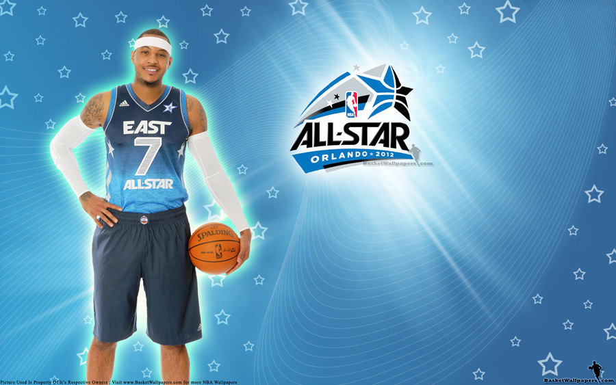 2012 NBA All-Star Carmelo Anthony Wallpaper