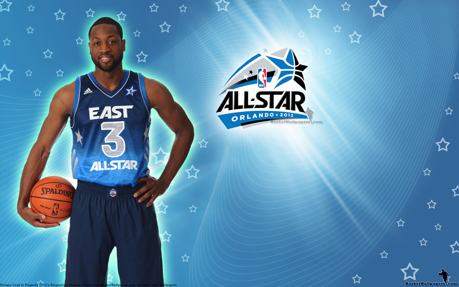 2012 NBA All-Star Dwyane Wade Sitting Wallpaper