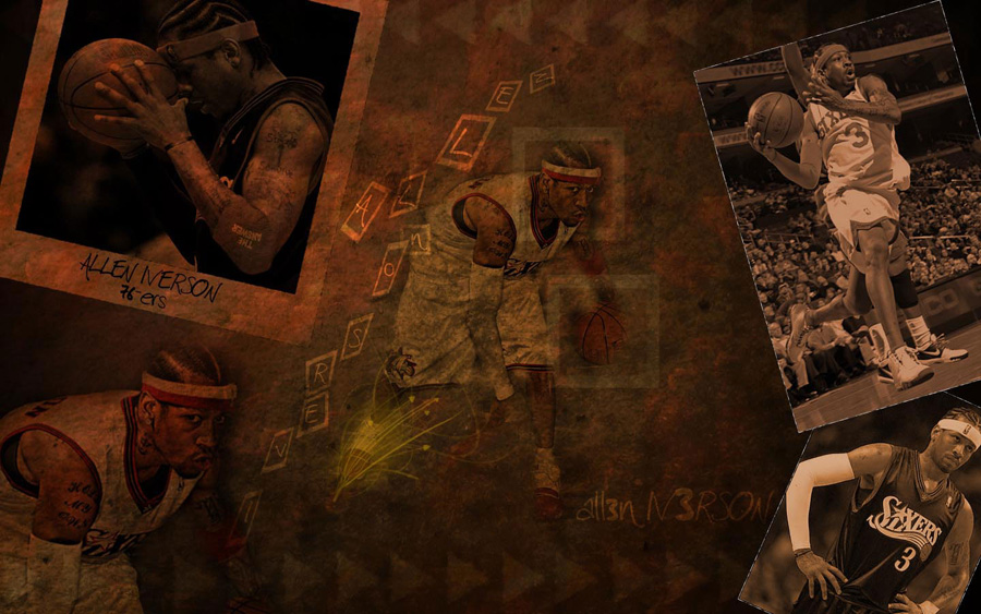 Allen Iverson 76ers Widescreen Wallpaper