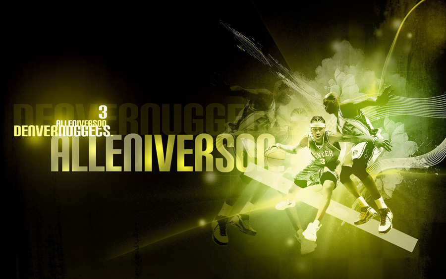Allen Iverson Nuggets Widescreen Wallpaper