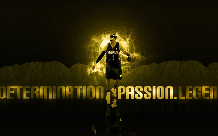 Allen Iverson Pistons Widescreen Wallpaper