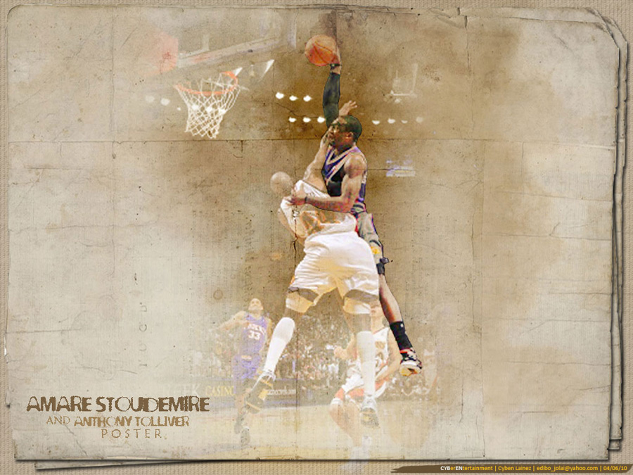 Amare Stoudemire Dunk Over Anthony Tolliver Wallpaper