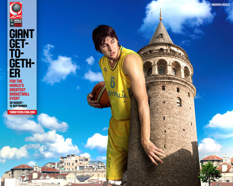 Andrew Bogut FIBA World Championship 2010 Wallpaper