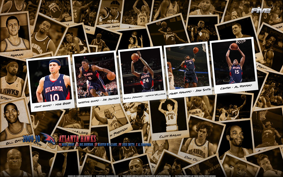 Atlanta Hawks Polaroid 2010 Widescreen Wallpaper