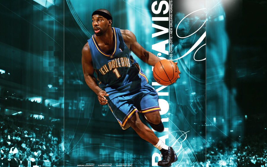 Baron Davis Hornets Widescreen Wallpaper