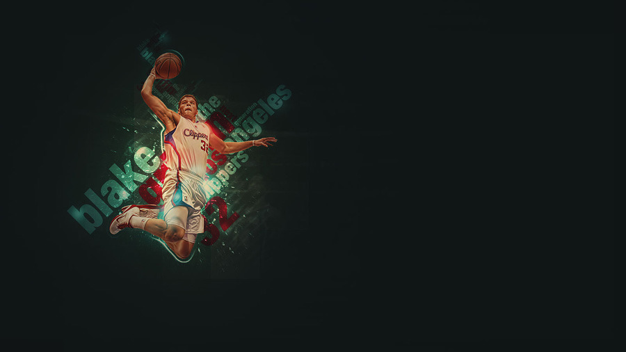Blake Griffin Slam Dunk Widescreen Wallpaper