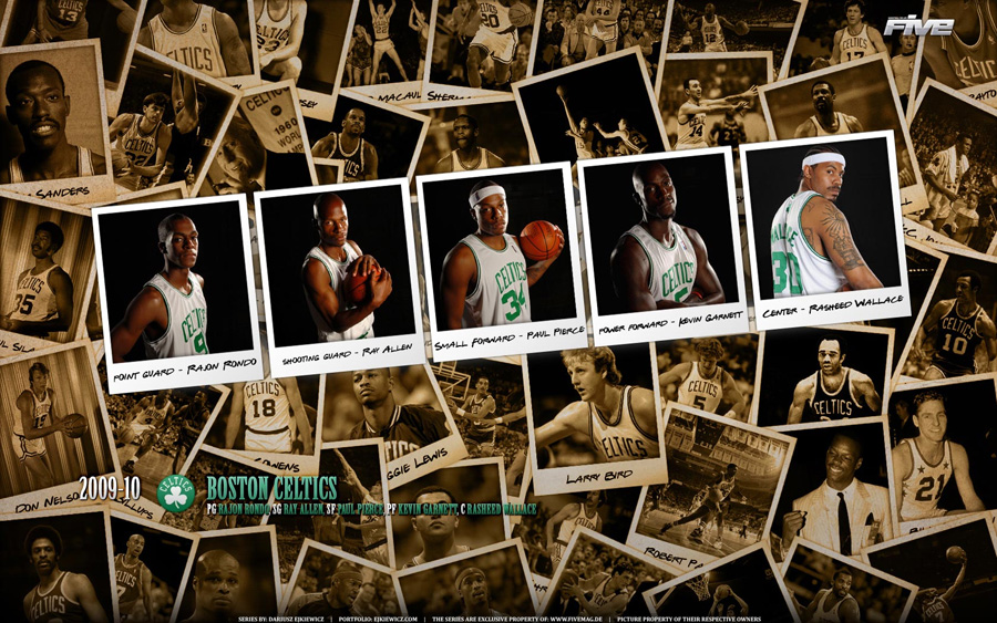 Boston Celtics Polaroid 2010 Widescreen Wallpaper