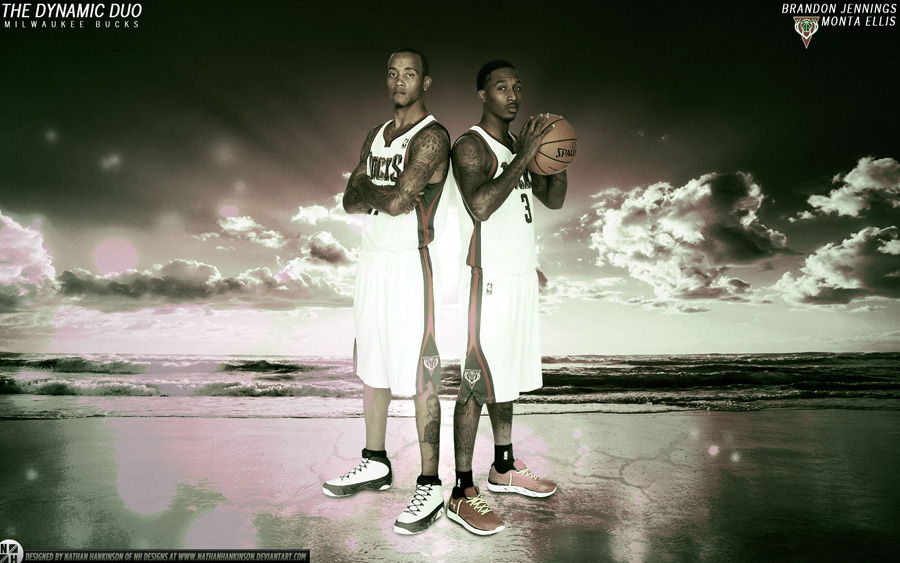Brandon Jennings and Monta Ellis Bucks 1920x1200 Wallpaper