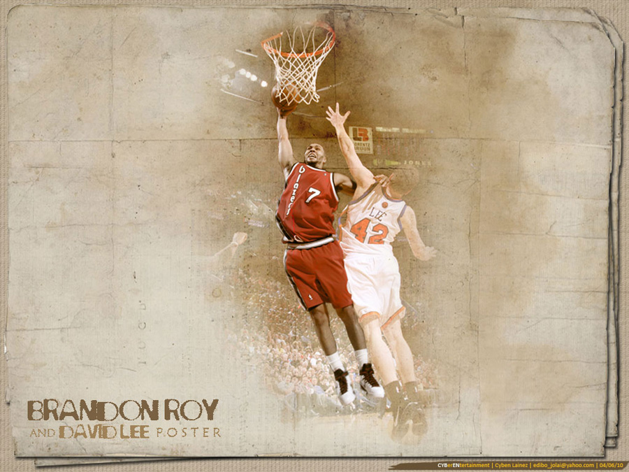 Brandon Roy Dunk Over David Lee Wallpaper