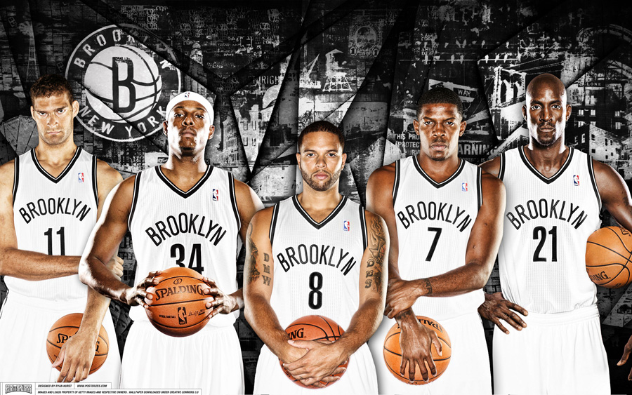 Brooklyn Nets 2014 Starting 5 2880x1800 Wallpaper