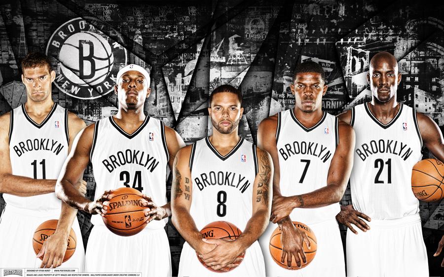 Brooklyn Nets 2014 Starting 5 2880x1800 Wallpaper