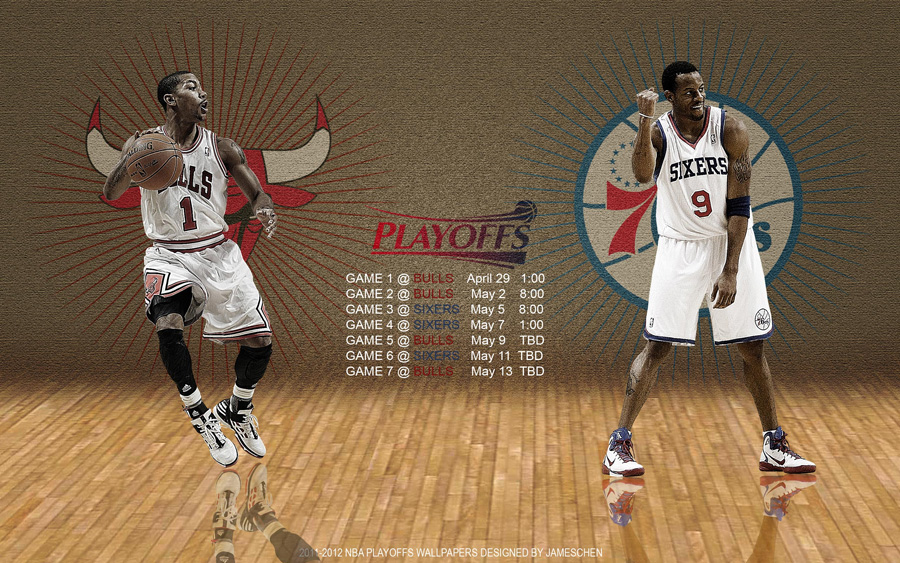 Bulls - 76ers 2012 NBA Playoffs 2560x1600 Wallpaper