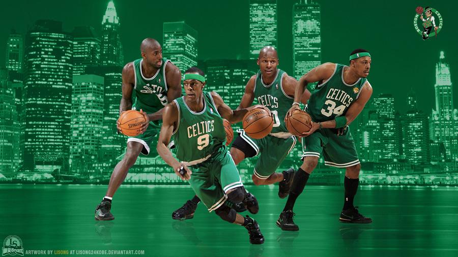 Boston Celtics Big 4 2012 Widescreen Wallpaper