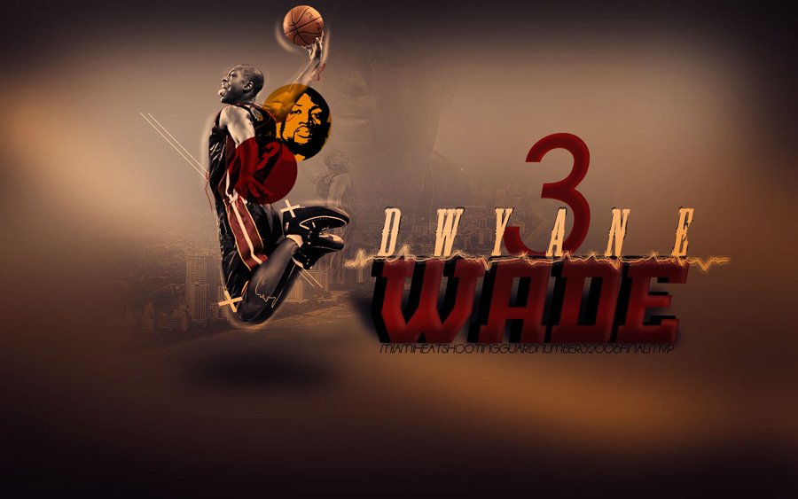 D-Wade #3 Dunk Widescreen Wallpaper