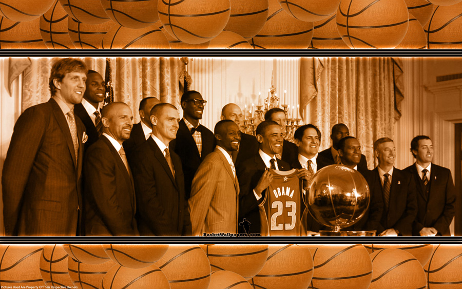 Dallas Mavs In White House Wallpaper Basketball