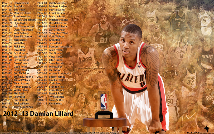 Damian Lillard Rookie Of The Year 2013 1920x1200 Wallpaper