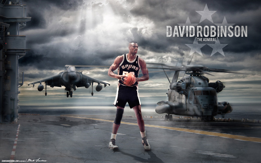David Robinson Spurs 2880x1800 Wallpaper