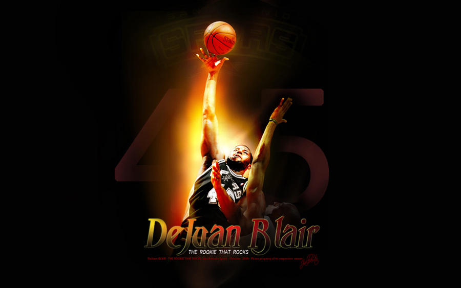 DeJuan Blair Spurs Widescreen Wallpaper