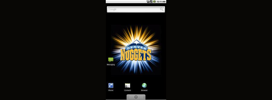 Denver Nuggets Logo Live Android Wallpaper