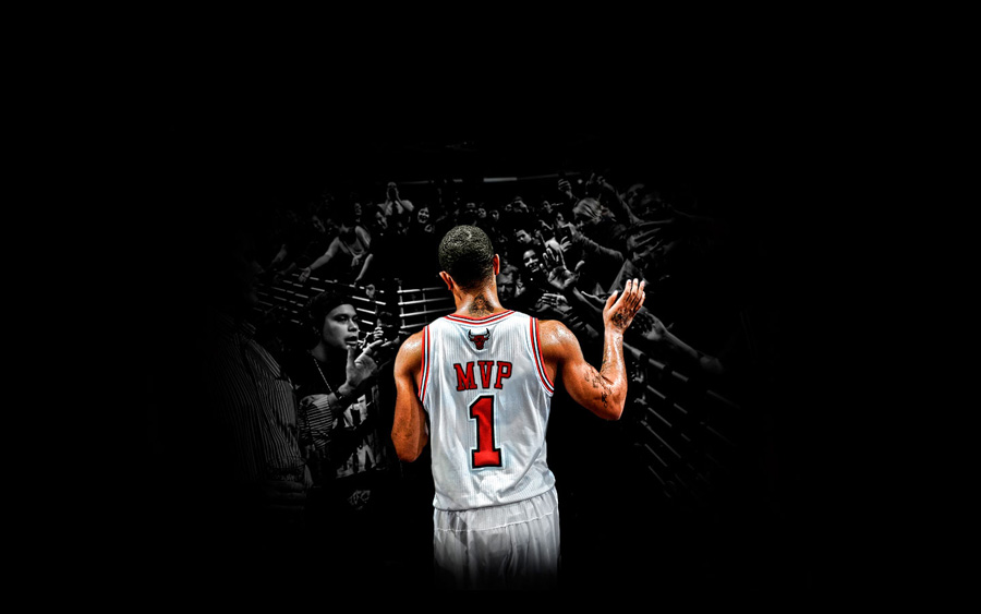 Derrick Rose MVP Jersey Widescreen Wallpaper