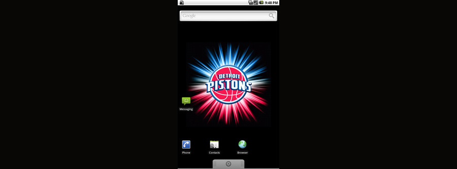 Detroit Pistons Logo Live Android Wallpaper