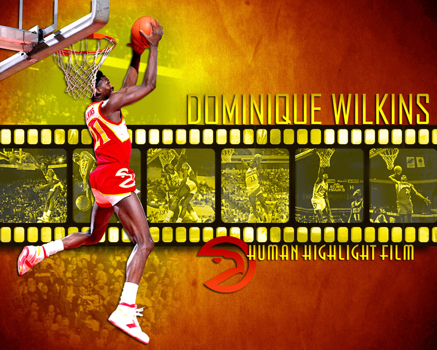 Dominique Wilkins Hawks Dunk Wallpaper
