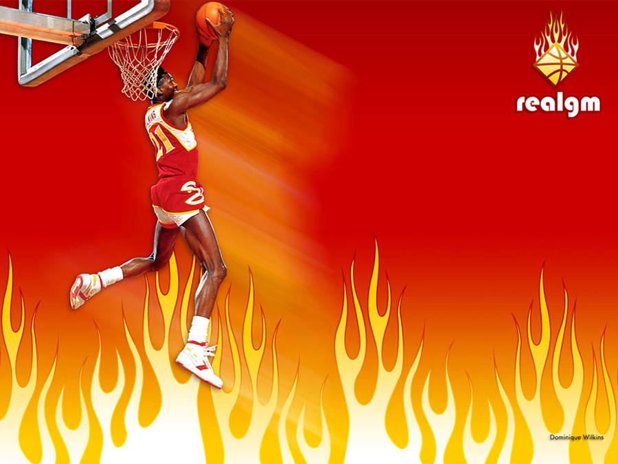 Dominique Wilkins Reverse Dunk Wallpaper