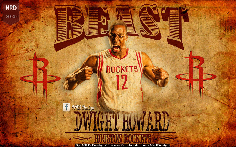 Dwight Howard Rockets Beast 2014 Wallpaper