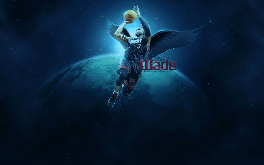 Dwyane Wade 2012 Black Wings 1440x900 Wallpaper