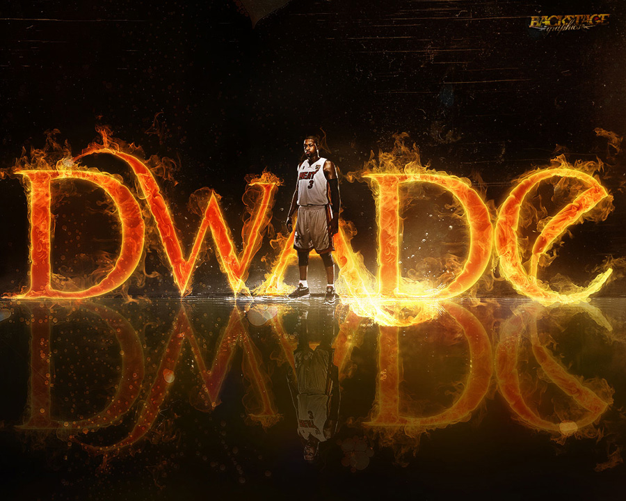Dwyane Wade Burning Wallpaper