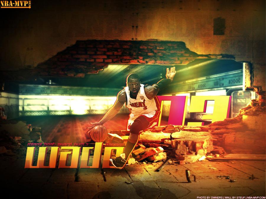 Dwyane Wade Dribbling Wallpaper