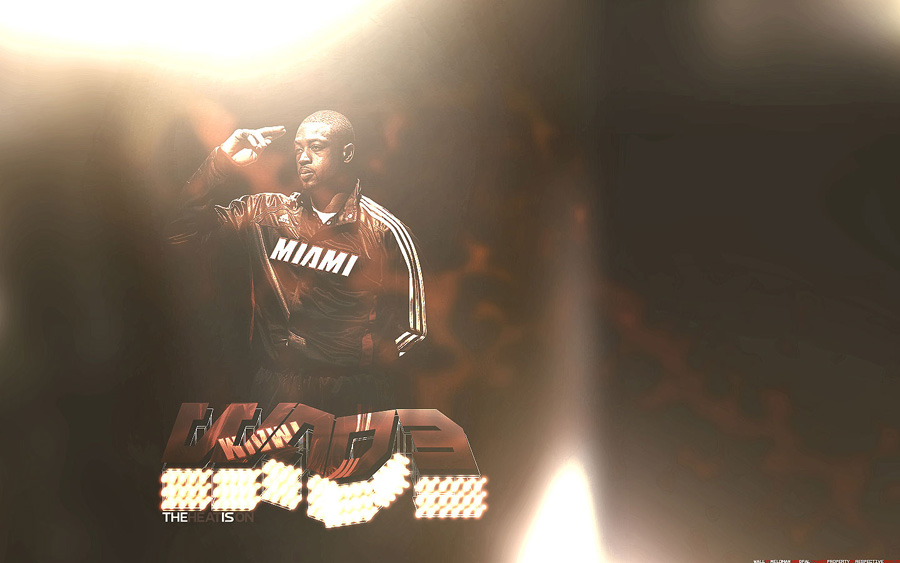 Dwyane Wade Heat Is On Widescreen Wallpaper
