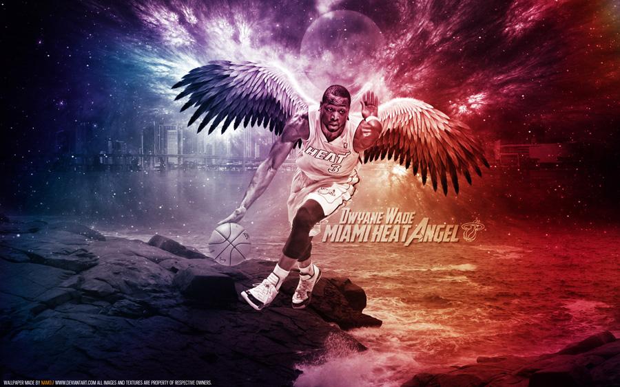 Dwyane Wade Miami Heat Angel 1680x1050 Wallpaper