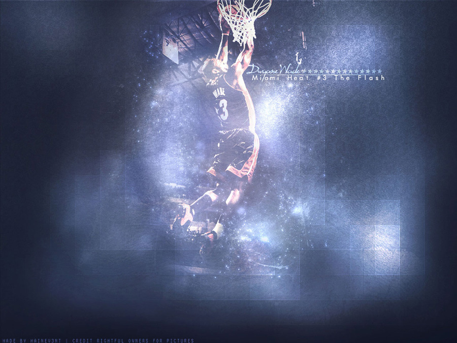 Dwyane Wade Reverse Dunk Wallpaper