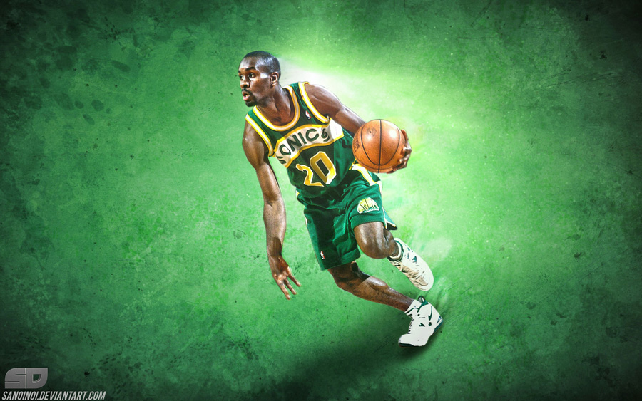 Gary Payton Sonics Legend 2880x1800 Wallpaper