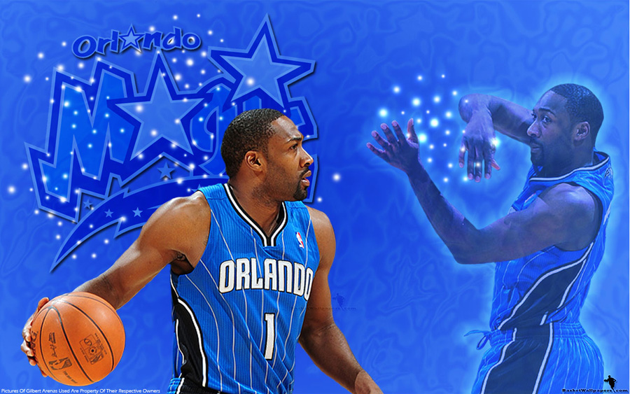 Gilbert Arenas Orlando Magic Widescreen Wallpaper