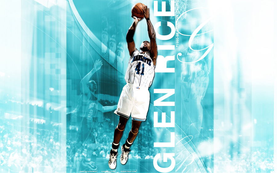 Glen Rice Hornets Widescreen Wallpaper