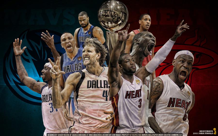 Heat - Mavs 2011 NBA Finals Widescreen Wallpaper